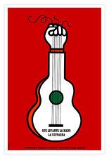 "Cuban movie Poster""GUITAR Raised Hand""Music art.TROVA.Home room wall decoration"