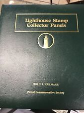 54 Lighthouse Mint Stamp Collector Panels & Binder 5 Empty Pages Us + Countries