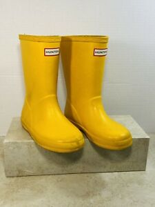 Hunter Kids First Classic Yellow Size 10 Toddler Unisex Mid-Calf Rain Boots