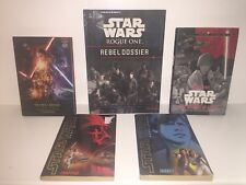 Lot Of 5 First Edition Star Wars Books Rebel Force Force Awakens Rogue One
