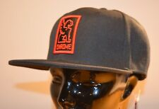 CHROME INDUSTRIES Patch Snapback Baseball Cap Hat (Black / Red) One Size