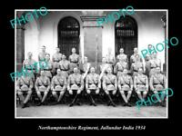 OLD HISTORIC MILITARY PHOTO OF NORTHAMPTONSHIRE REGIMENT JULLUNDUR INDIA 1934