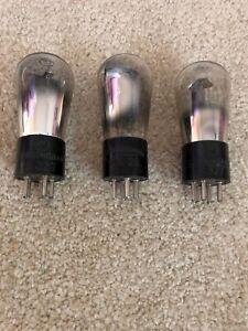 3 Cunningham Globe Tubes Stamped Base C327 CX26