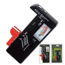 New Hand Held Battery Tester - Aaa, Aa, C, D, 9V