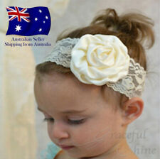 8 Colours BABY HEADBAND  TODDLER FLOWER GIRL LACE CHRISTENING HAIRBANDS