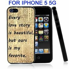Vintage Love Story For Iphone5 5G Case Cover