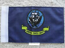 "6""X9"" U.S. NAVY FLAG DOUBLE SIDED KNIT NYLON SLEEVE MOTORCYCLE /CAR"