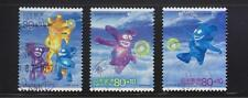 JAPAN 2001 FIFA WORLD CUP 2002 SEMI POSTAL COMP. SET OF 3 STAMPS IN FINE USED