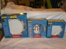 Debbie Mumm Christmas Snowman - 4 Place Setting - Dinner, Salad Plates, Bowls -2