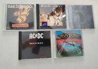 Lot of 5 Classic Rock Music CDs Bon Jovi Boston AC/DC Blue Oyster