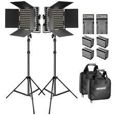 Neewer 2 Kit Illuminazione: Luce 660 LED Bicolore + Stativo + Kit Alimentazione