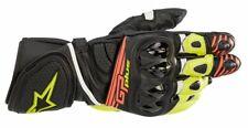 Alpinestars GP Plus R V2 Black Fluo Red Leather Motorbike/Motorcycle Race Gloves