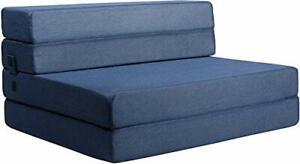 Milliard Tri-Fold Foam Folding Mattress and Sofa Bed for Guests Twin XL