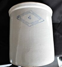 Antique The Pittsburg Pottery Co. Diamond Brand 4 gallon Crock