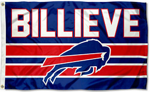 Bills Football New USA Shipping Buffalo Bill Flag 3X5 BANNER 3 X 5 BILLIEVE