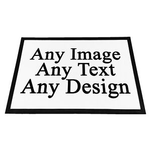 Personalised Any Image / Text / Design Rubber Doormat