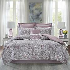 Comfort Spaces Kashmir 8 Piece Comforter Set Hypoallergenic Microfiber Lightweig