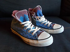 Converse Chuck Taylor MISSONI High Top Tg UK 3.5 Donne Blu Mix NUOVO CON ETICHETTA