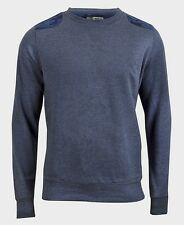 Brave Soul Bleu Camo Patch Sweat Polaire Pull Pull-Taille L Homme