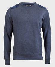 Brave Soul Size Medium Men's Blue Sweatshirt Fleece Jumper Pullover