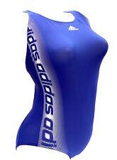 Adidas sportlicher 1PC Infinitex  Logoprint - Badeanzug tintenblau-weiß 36 Neu