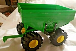 "ERTL John Deere Green plastic grainTrailer 4 Tires Wheels 8"" inch 1/32 Scale"