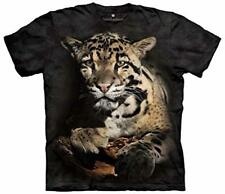 The Mountain 100% Cotton Kid's T-Shirt Youth Tee Clouded Leopard S NWT