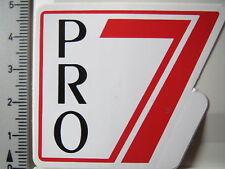 ADESIVI STICKER Pro 7-RADIO-TV-televisione - VECCHIO LOGO - 80er v4 (3064)