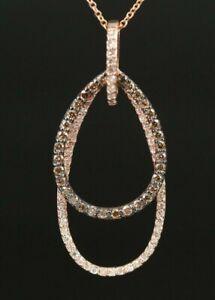 $4250 / NEW / EFFY / 0.75 CT Diamond Necklace / 14K