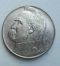 Silver Coin Srebrna Moneta II RP 10 ZŁ JÓZEF PIŁSUDSKI 1939 st. dobry