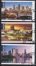 AUSTRALIA 2018 BEAUTIFUL CITIES SET OF 3 INTERNATIONAL STAMPS  FINE USED