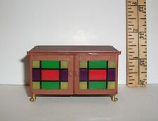 MINIATURE RE-MENT OPENING STORAGE TABLE CABINET ACCESSORY FOR DOLLHOUSE NEW