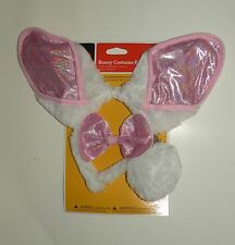 New BUNNY Rabbit Costume Kit White/Pink Dress Up/Halloween Headband, Bow & Tail