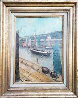 tableau huile /toile  - le port d' Etel - signée Paulaert