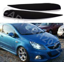 Fits Vauxhall Opel Corsa D,  Headlights  Eyebrows Eyelids  ABS PLASTIC