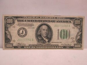 1934A US $100 FEDERAL RESERVE NOTE
