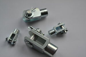 clevis pin fork end joint m5 m6 m8 m10 m12 316 stainless or steel zinc plated