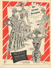 Publicité Advertising 1958  KESTOS VAHINE maillot de bain tenue de plage