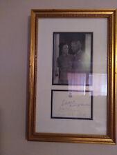 Duke Edward of Windsor & Wallis Simpson Signature card and framed Photo Collecti