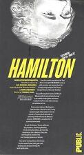 """Lin-Manuel Miranda """"HAMILTON"""" Public Theatre 2014 World Premiere Postcard"""
