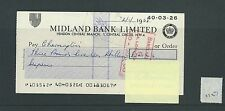 wbc. - CHEQUE - CH1127- USED -1968/69 - MIDLAND BANK, HENDON CENTRAL LONDON NW4