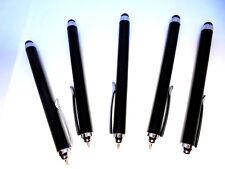 5 PCS Tablet Stylus and Ballpoint Shake Pen Touchscreen Black Novelty Gift Idea