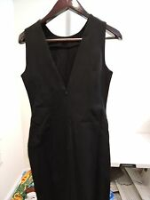 Banana Republic Cotton & Viscose Blend Black Sleeveless Dress Size - 8P