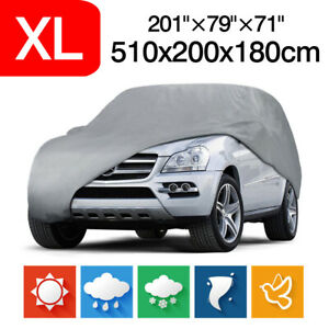 XL Full Car Cover For SUV Van Truck Indoor Outdoor Rain Dust Storage Protection