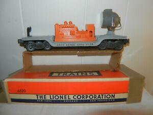 LIONEL - O SCALE - SEARCHLIGHT CAR # 6-6520 - ORANGE GENERATOR