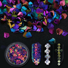 6 Boxes Holographic Chameleon Nail Art Laser Sequins Colorful Flakes 3D Decors