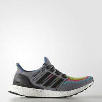adidas Ultra Boost 2.0 Mens Grey Green Running Shoes Trainers AQ4003 ALL Sizes