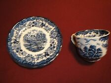 Royal Worcester Spode Avon Tea Cup & Saucer Palissy, England 1790 Avon Scenes