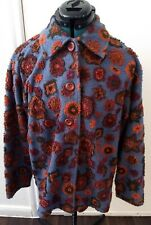 The Territory Ahead Womens Textured Flowers Button Down Shirt Top Sz M