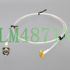 BNC Plug to RA SMC Jack RG316 2' Low Noise cable Sensor Transducer Oscilloscope